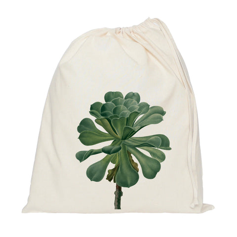 Succulent drawstring bag