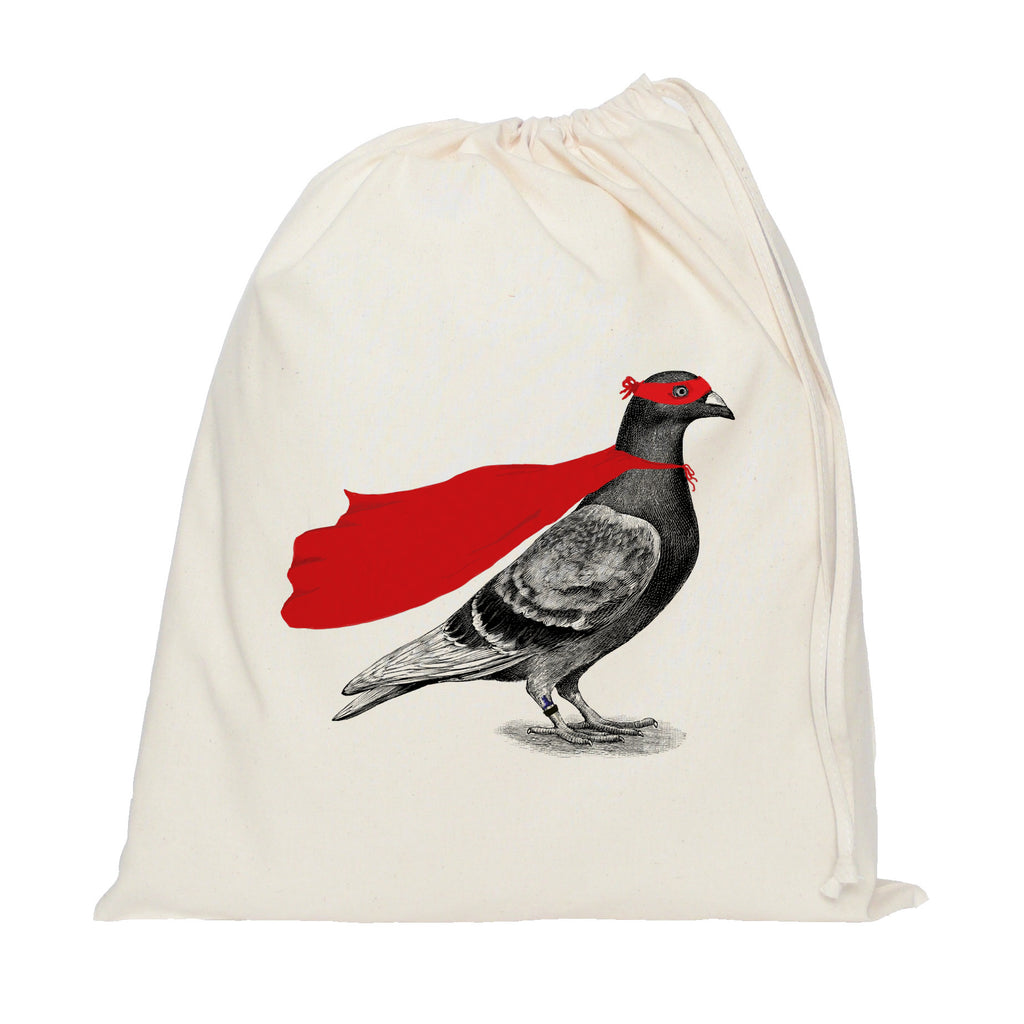 Super pigeon drawstring bag