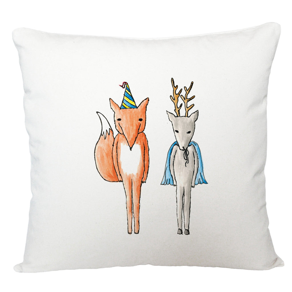 Party fox and super stag cushion cover