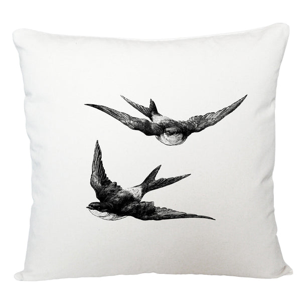 Swallows cushion cover