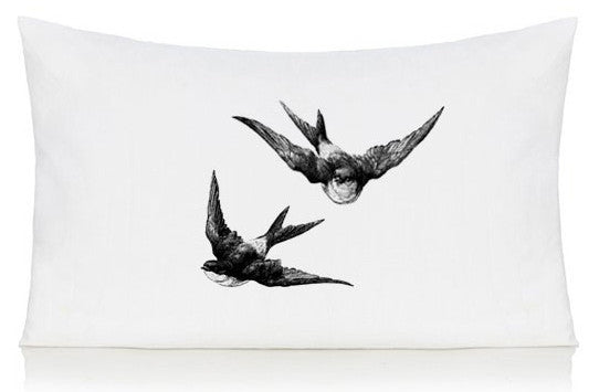 Swallows pillow case