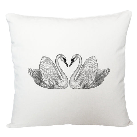 Swans cushion cover