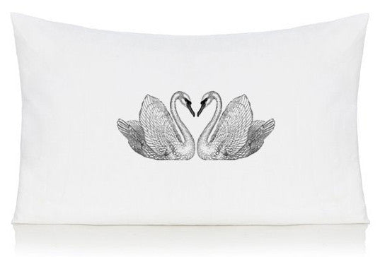 Swan pillow case