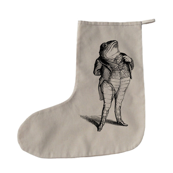 Toad in a suit Christmas stocking