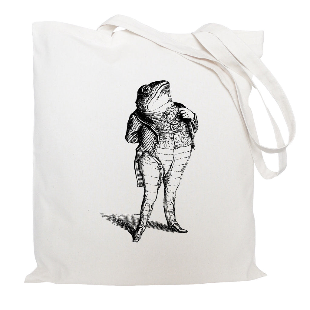 Toad in a suit tote bag