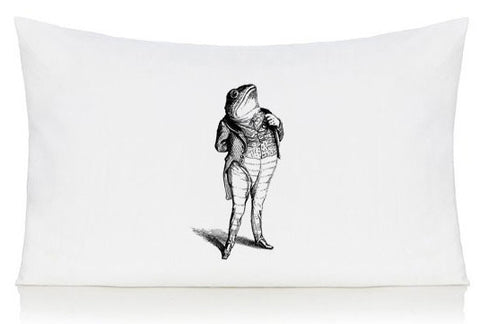 Frog in a suit pillow case