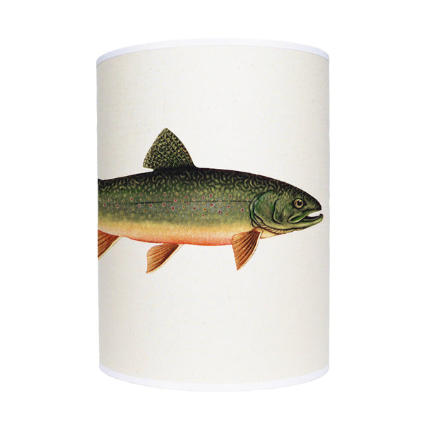 Trout lamp shade/ ceiling pendant