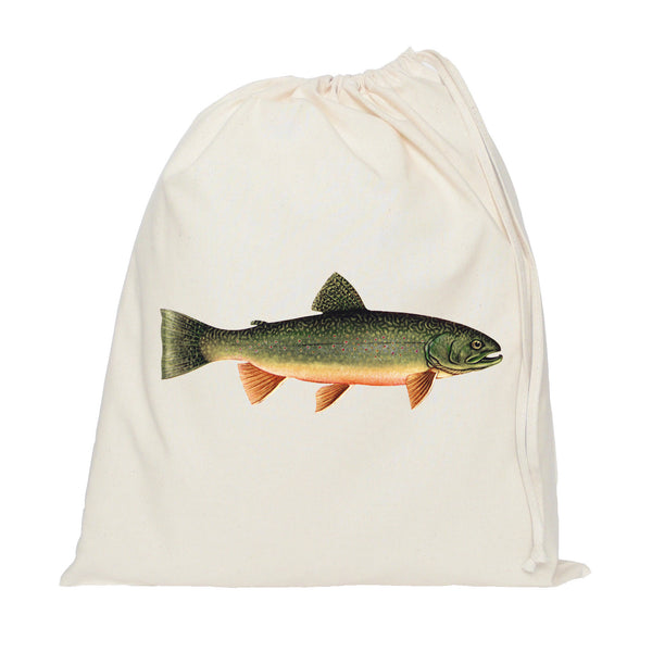 Trout drawstring bag