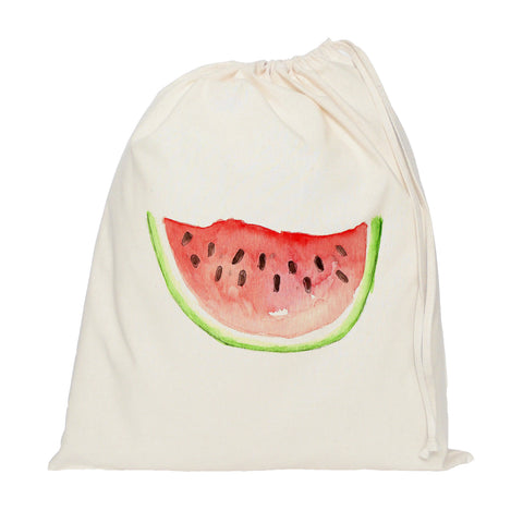 Watermelon drawstring bag