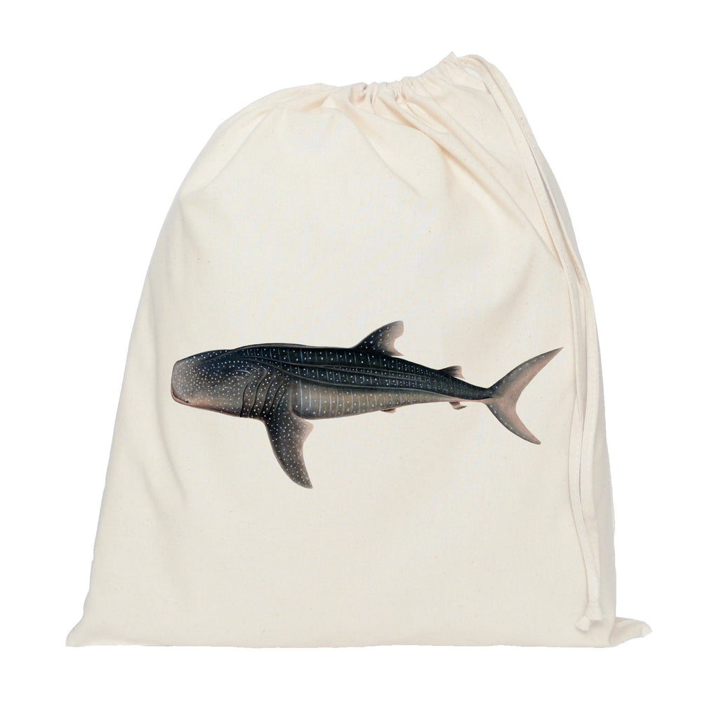 Shark drawstring bag