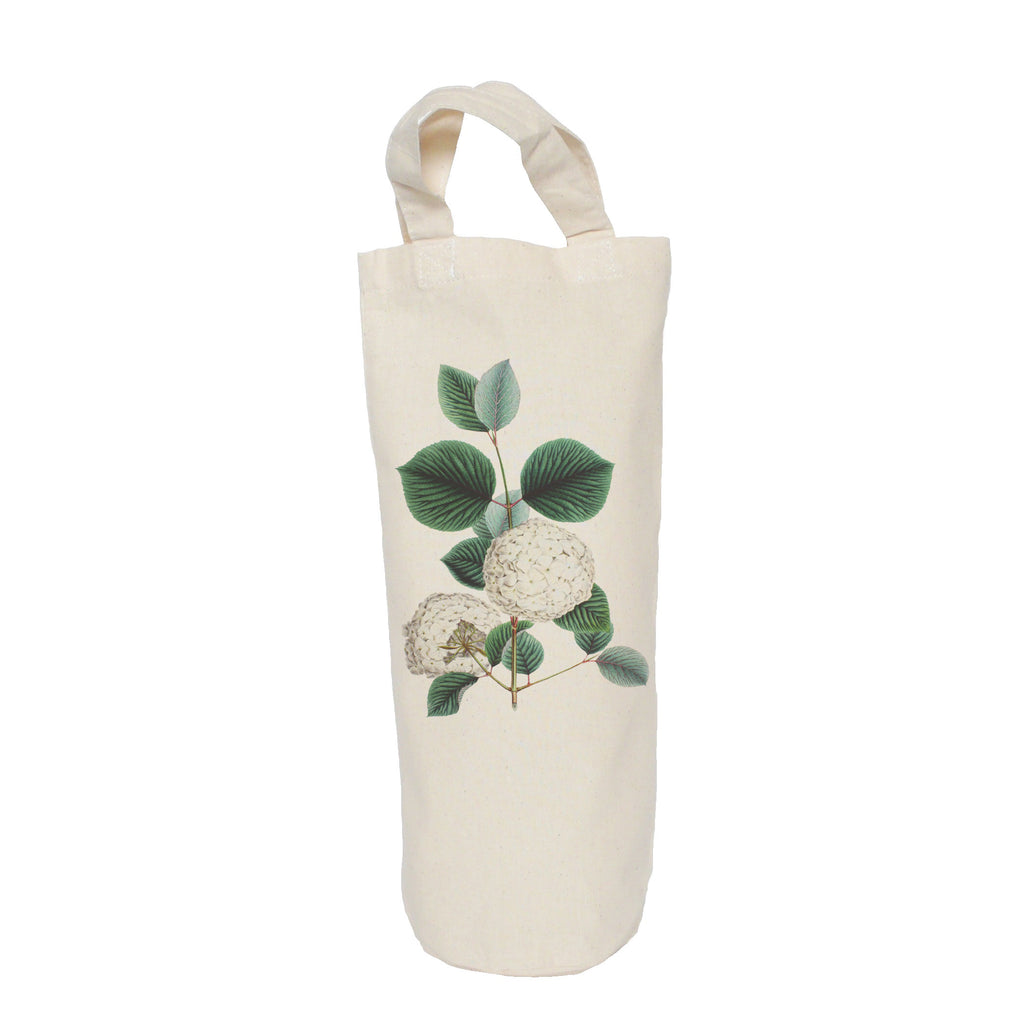 White flower bottle bag