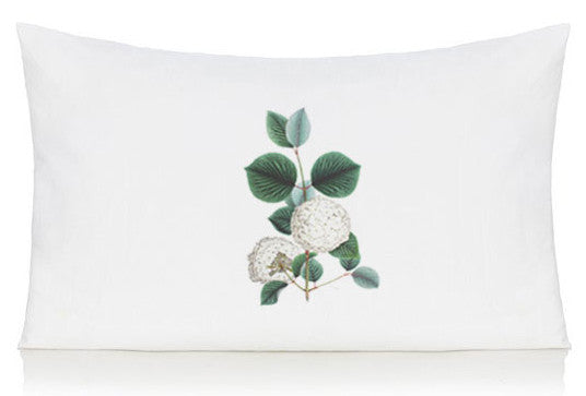 White flower pillow case