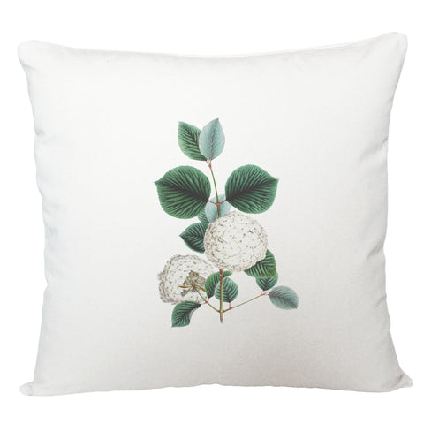 White flower cushion cover