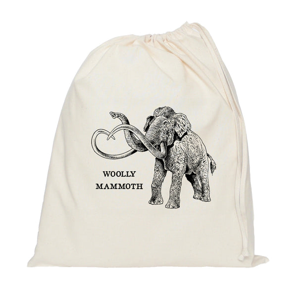 Woolly mammoth drawstring bag