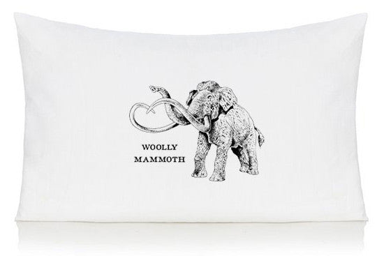 Woolly mammoth pillow case