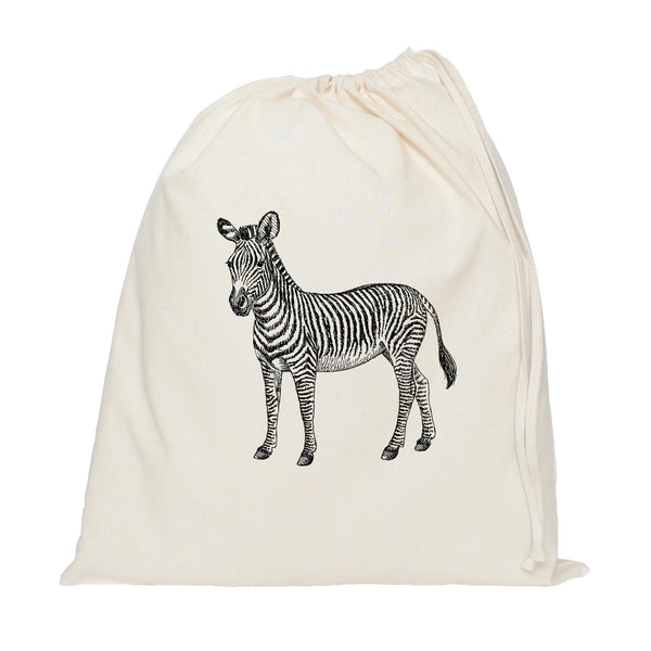 Zebra drawstring bag
