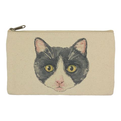 Black and white cat pencil case