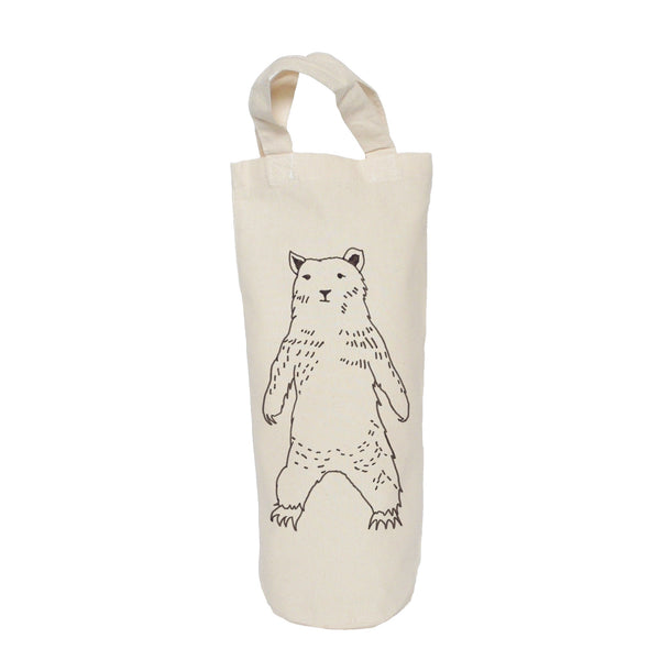 Black bear bottle bag
