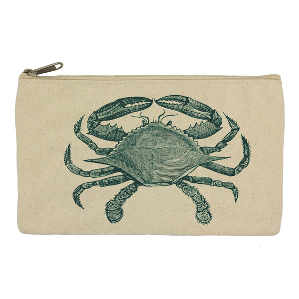 Blue crab pencil case