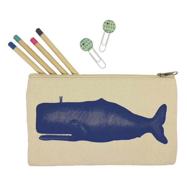 Blue whale pencil case