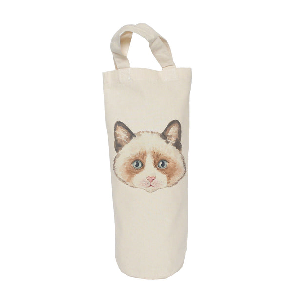Brown cat bottle bag