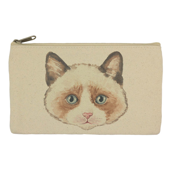 Brown cat pencil case