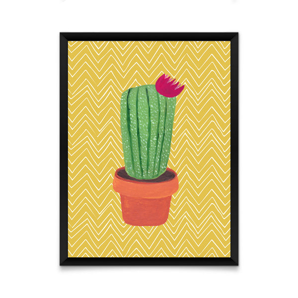 Cactus on yellow print/ wall art