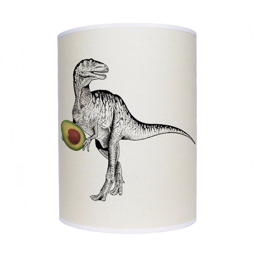 Dinosaur with avocado lamp shade/ ceiling shade