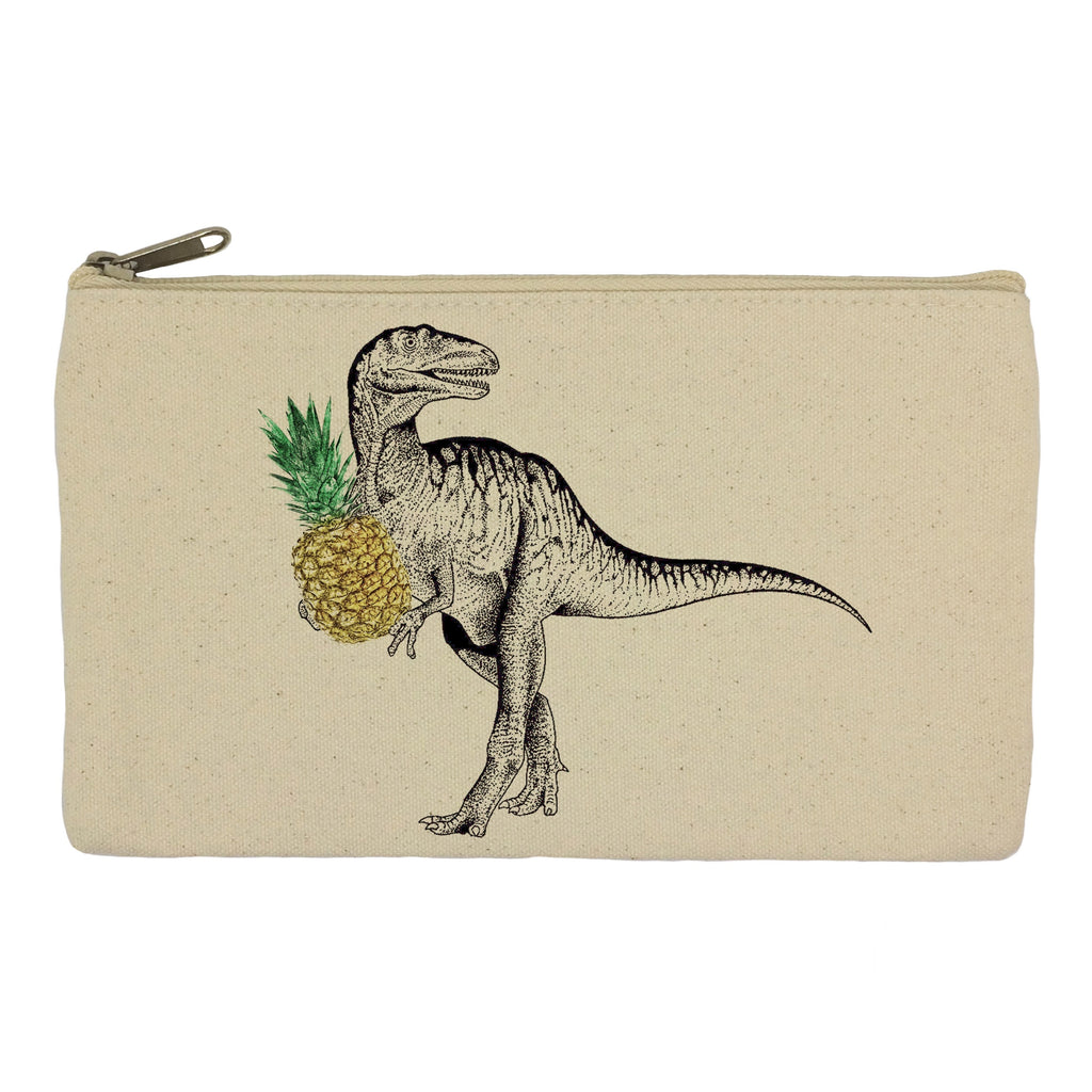 Dinosaur with pineapple pencil case