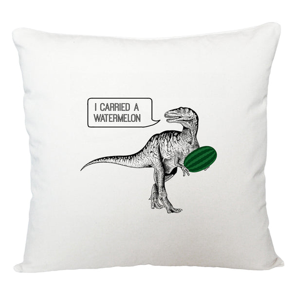 Dirty dinosaur cushion cover