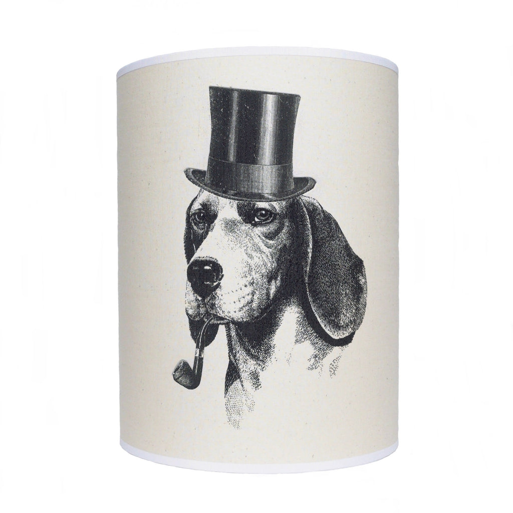 Dog lamp shade/ ceiling shade/ dog with pipe