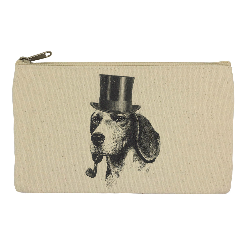 Dog with pipe and hat pencil case