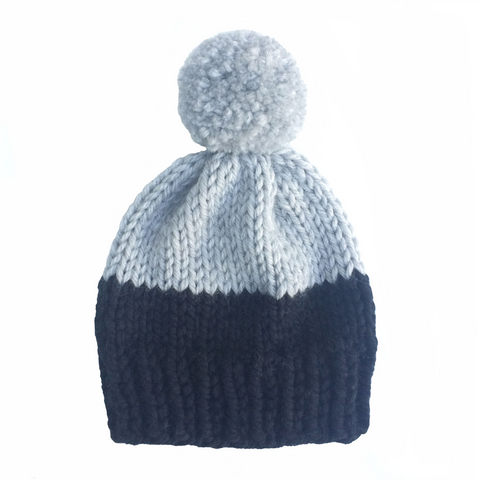 Black and grey woolly hat