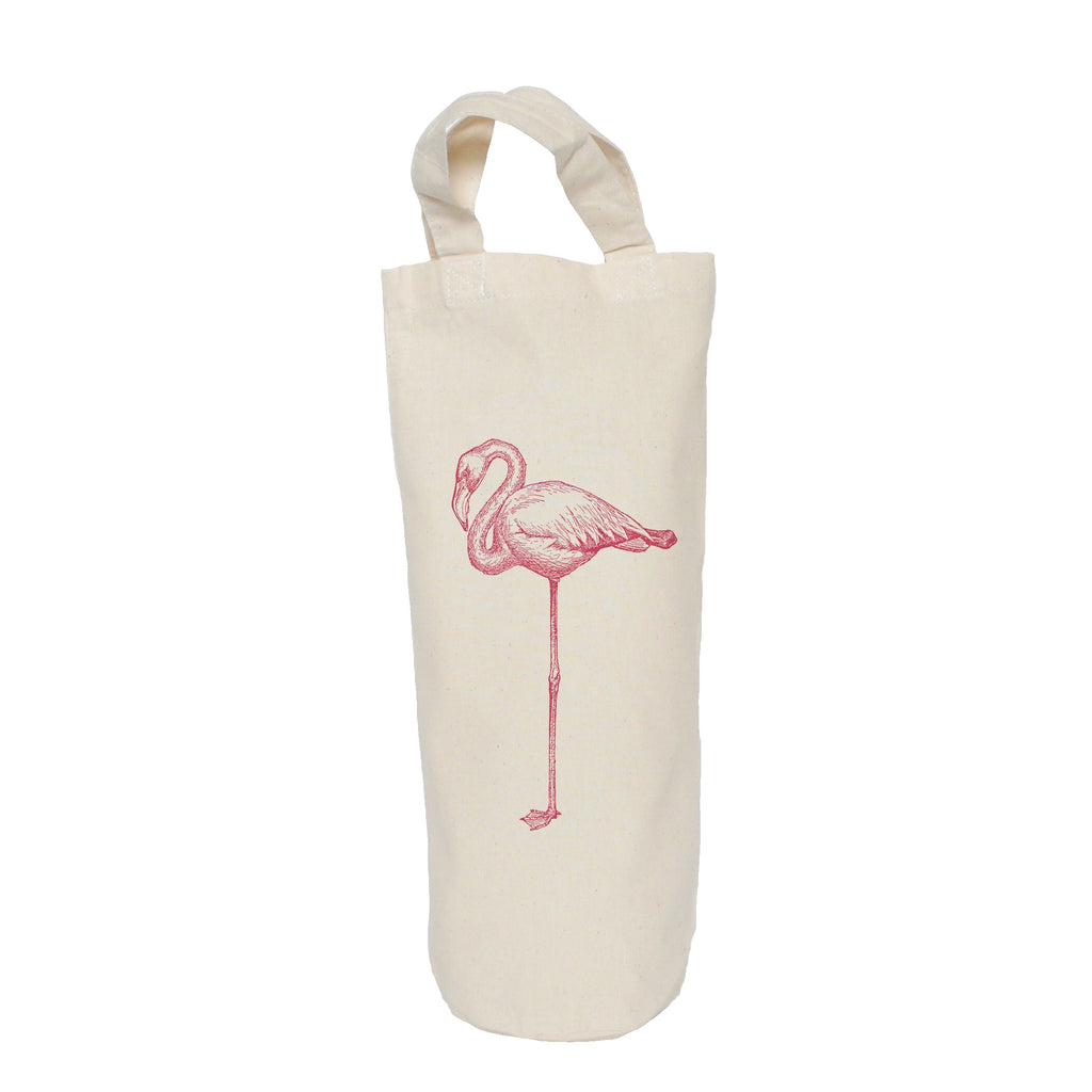 Standing flamingo bottle bag