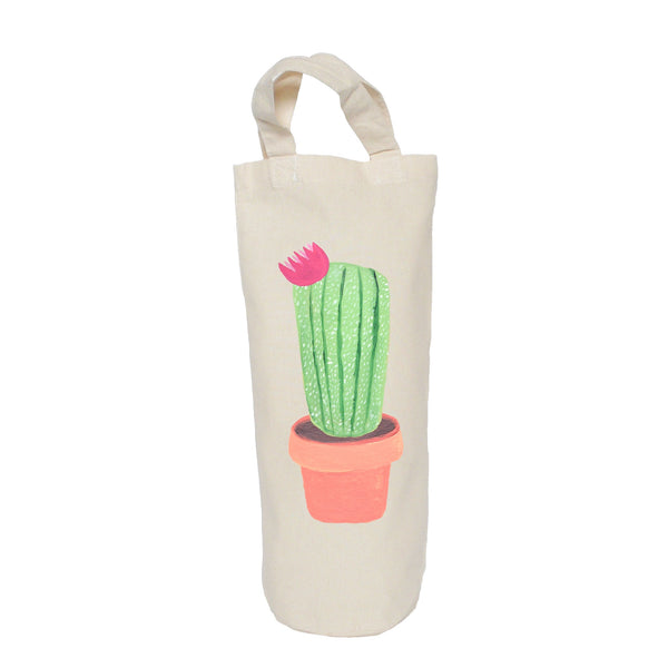 Flower cactus bottle bag