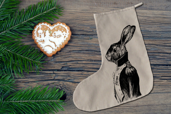 General hare Christmas stocking