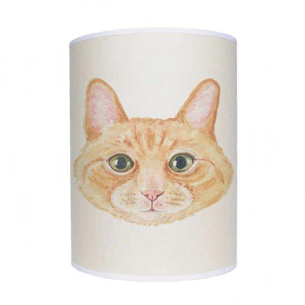Cat lamp shade/ ceiling shade/ ginger cat