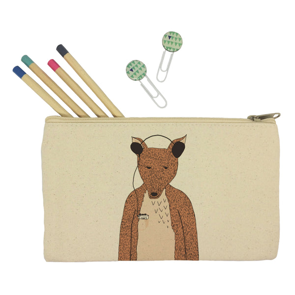 Hollywood the fox pencil case