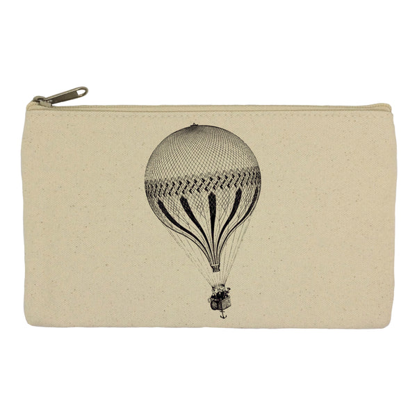Hot ait balloon with anchor pencil case