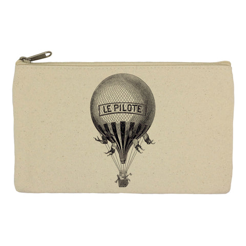 French hot air balloon pencil case