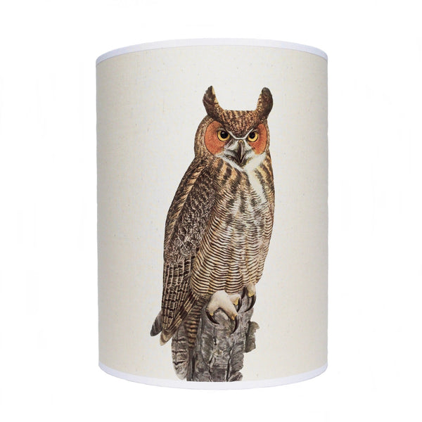 Orange faced owl lamp shade/ ceiling shade