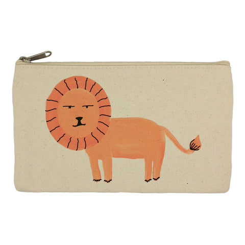 Orange lion pencil case