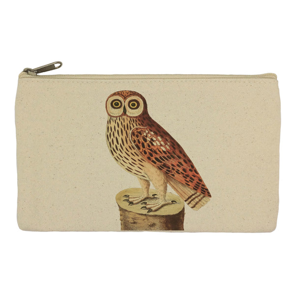 Owl on log pencil case