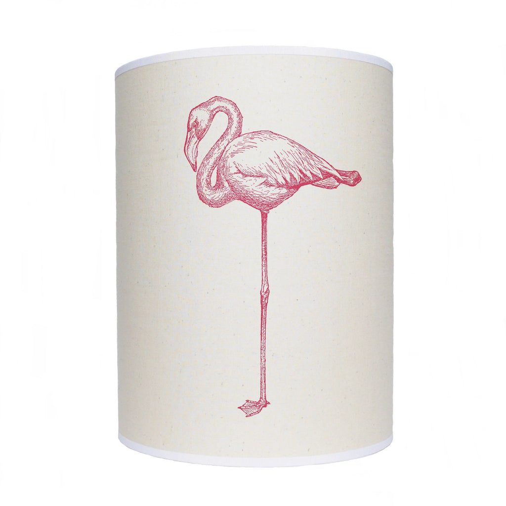 Pink flamingo shade/ lamp shade/ ceiling shade