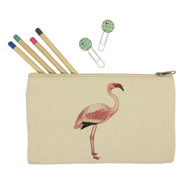 Standing flaming pencil case