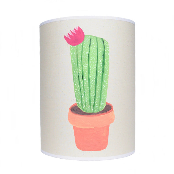 Cactus lamp shade/ ceiling shade/ pink flower
