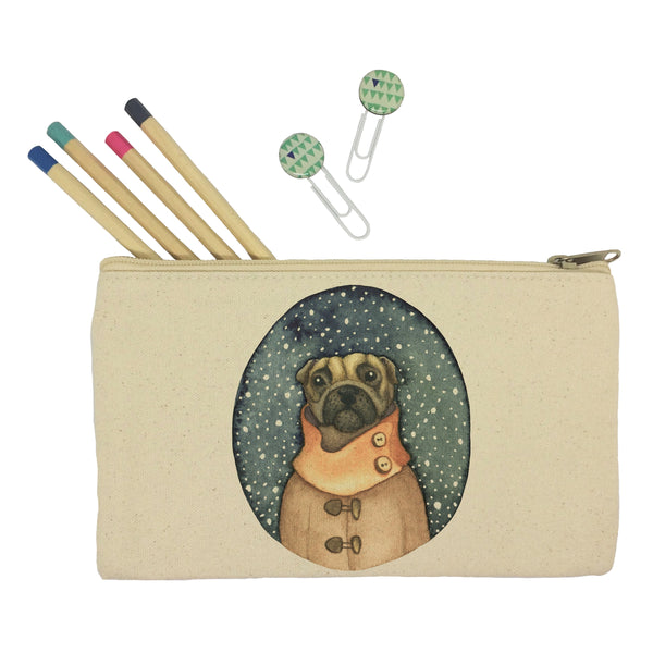 Dog in a scarf pencil case
