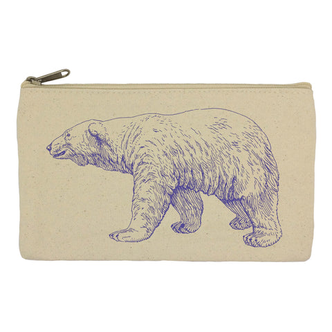 Purple polar bear pencil case