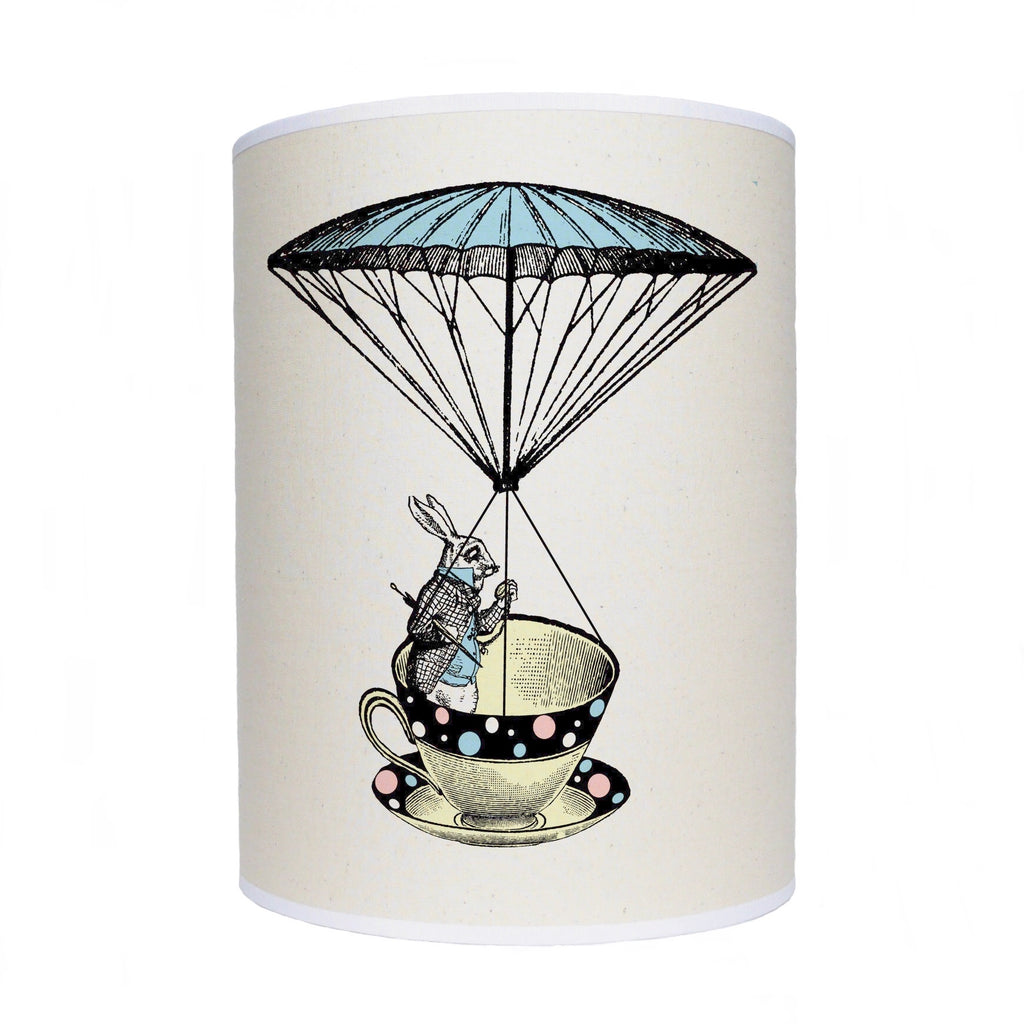 Alice in Wonderland lamp shade/ ceiling shade/rabbit in a tea cup