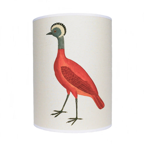 Bird lamp shade/ ceiling shade/ red bird
